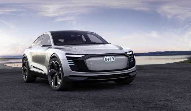 Front/Side  of Audi e-tron Sportback 95 kWh quattro Single Speed, 503hp, 2017