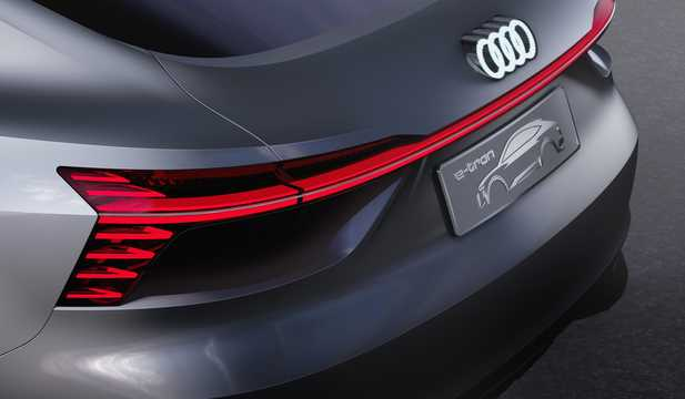 Close-up of Audi e-tron Sportback 95 kWh quattro Single Speed, 503hp, 2017