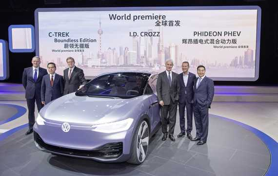 Front/Side  of Volkswagen I.D. Crozz 83 kWh 4Motion Single Speed, 306hp, 2017