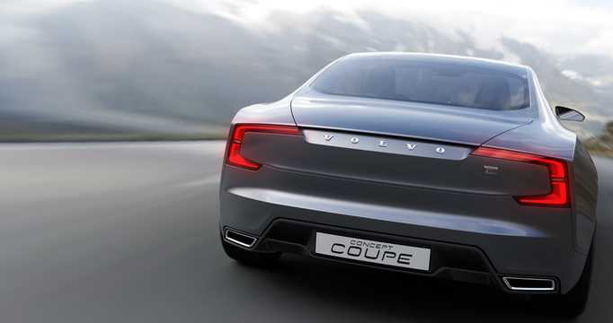 Back of Volvo Concept Coupé Concept Concept, 2014