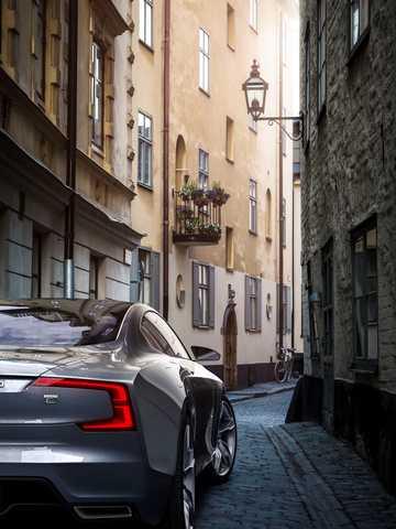 Close-up of Volvo Concept Coupé Concept Concept, 2014