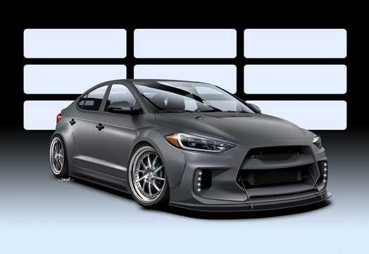 Front/Side  of Hyundai Elantra ARK Concept Concept, 2016