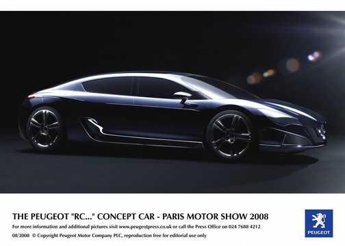 Fram/Sida av Peugeot RC Hybrid4 1.6 THP AWD Automatisk, 317hk, 2008