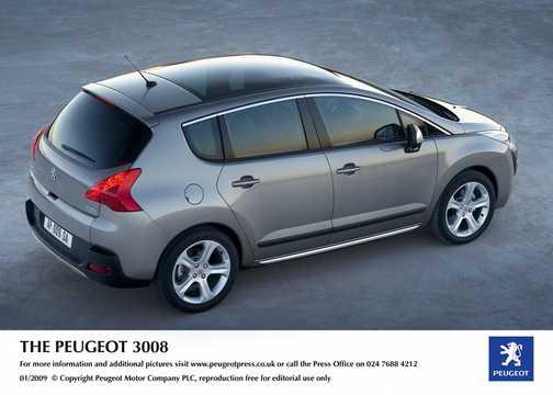 Bak/Sida av Peugeot Prologue Hybrid4 2.0 HDi FAP 4WD Concept, 200hk, 2008