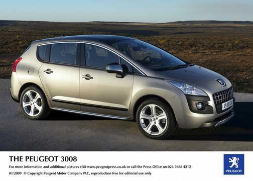 Fram/Sida av Peugeot Prologue Hybrid4 2.0 HDi FAP 4WD Concept, 200hk, 2008