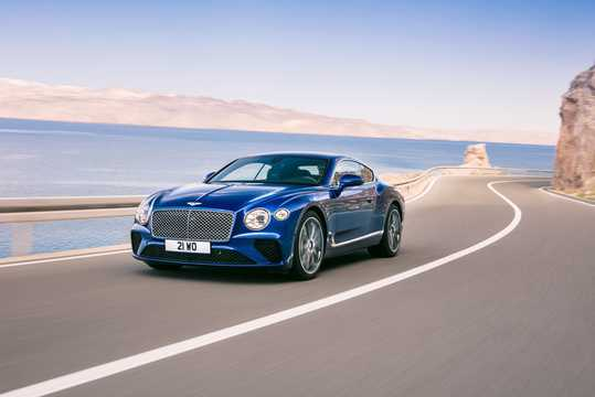 Front/Side  of Bentley Continental GT 6.0 W12 TSI DCT, 635hp, 2018