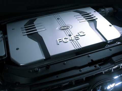 Motorutrymme av Kia Sportage FCEV Concept Concept, 2004