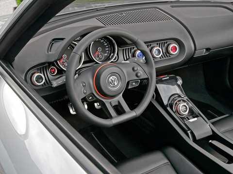 Interior of Volkswagen BlueSport Concept Concept, 2009