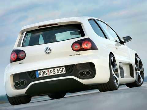 Back/Side of Volkswagen Golf GTI W12-650 6.0 W12 Automatic, 659hp, 2007