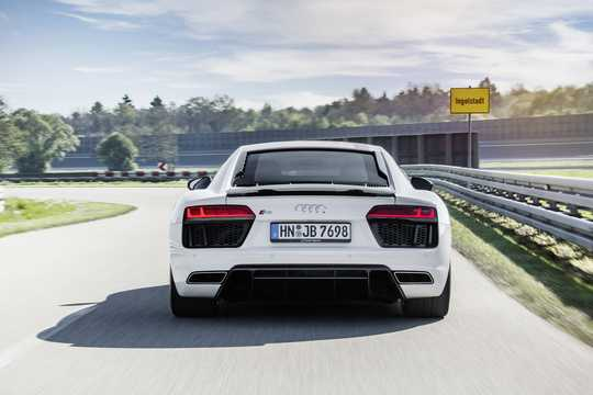 Back of Audi R8 V10 RWS 5.2 V10 FSI S Tronic, 540hp, 2018