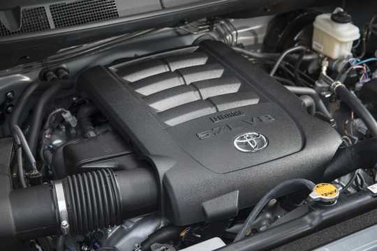 Engine compartment  of Toyota Tundra CrewMax 2017