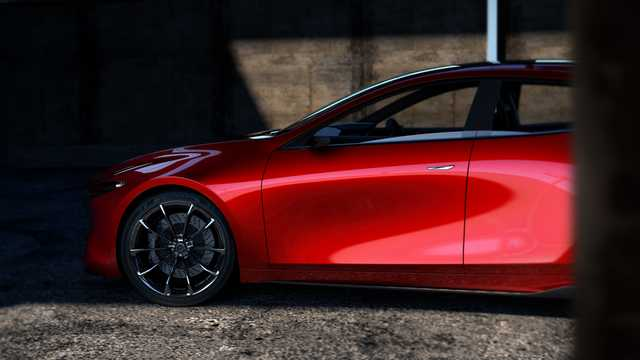 Närbild av Mazda Kai Concept Concept, 2017