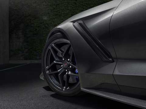 Close-up of Chevrolet Corvette ZR1 6.2 V8 Automatic, 765hp, 2019