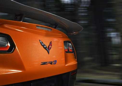 Close-up of Chevrolet Corvette ZR1 6.2 V8 765hp, 2019