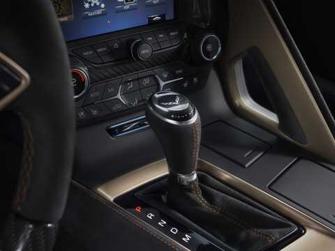 Interior of Chevrolet Corvette ZR1 6.2 V8 Automatic, 765hp, 2019