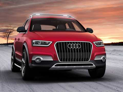 Front/Side  of Audi Q3 vail 2.5 TFSI quattro S Tronic, 310hp, 2012