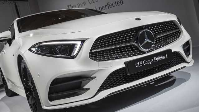 Close-up of Mercedes-Benz CLS-Class Coupé 2018