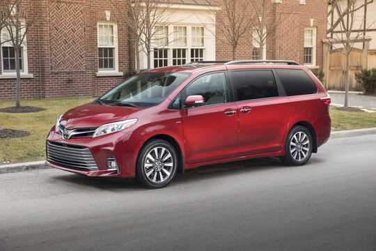 Front/Side  of Toyota Sienna 3.5 V6 AWD Automatic, 301hp, 2018