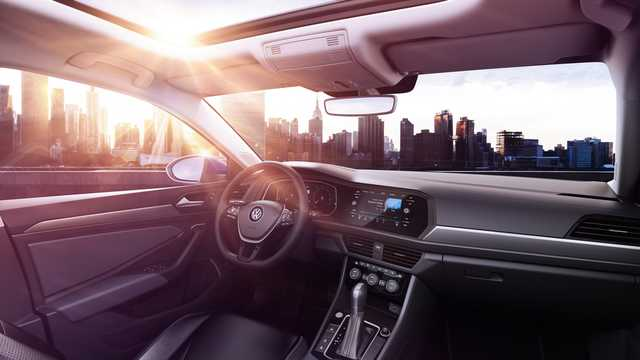 Interior of Volkswagen Jetta 4-door 1.4 TSI 150hp, 2019