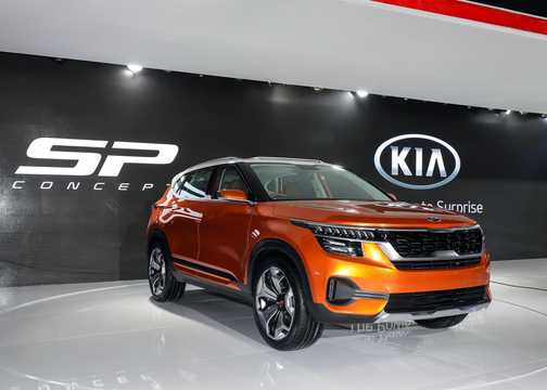 Front/Side  of Kia SP Concept Concept, 2018