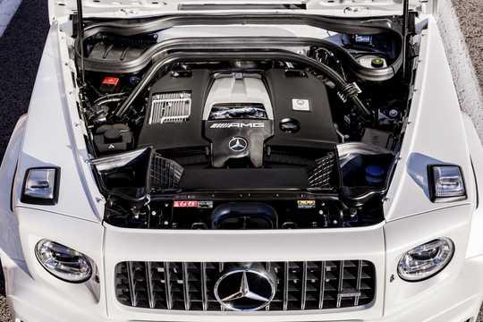 Motorutrymme av Mercedes-Benz AMG G 63 4.0 V8 4MATIC , 585hk, 2019