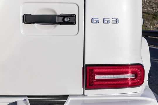 Närbild av Mercedes-Benz AMG G 63 4.0 V8 4MATIC , 585hk, 2019