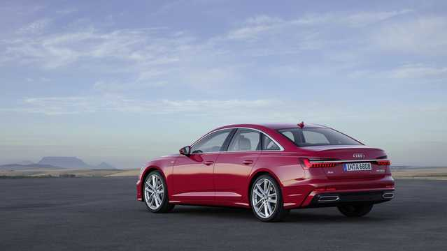 Back/Side of Audi A6 55 TFSI 3.0 TFSI V6 quattro S Tronic, 340hp, 2018