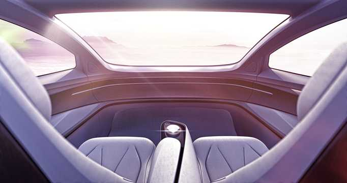 Interior of Volkswagen I.D. Vizzion 111 kWh AWD Single Speed, 306hp, 2018
