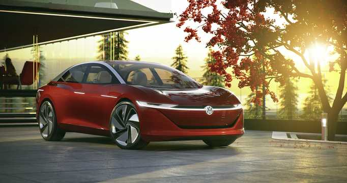 Front/Side  of Volkswagen I.D. Vizzion 111 kWh AWD Single Speed, 306hp, 2018
