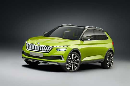 Front/Side  of Skoda Vision X 1.5 TSI G-Tec AWD Concept, 132hp, 2018