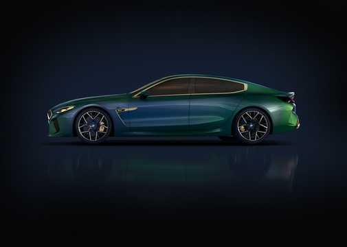 Side  of BMW M8 Gran Coupé Concept Concept, 2018