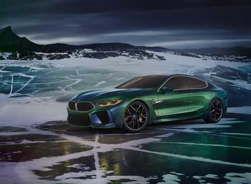 Front/Side  of BMW M8 Gran Coupé Concept Concept, 2018