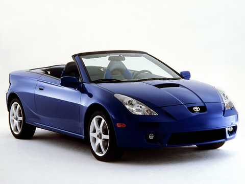 Front/Side  of Toyota Celica Convertible 1.8 VVTL-i Automatic, 182hp, 2000
