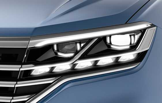 Close-up of Volkswagen Touareg 2019