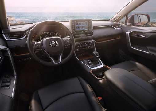 Interior of Toyota RAV4 2019
