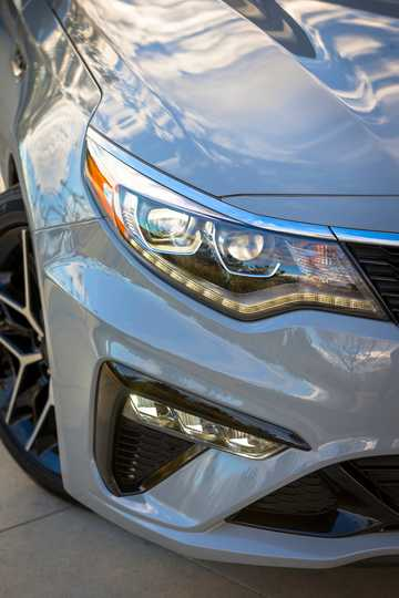 Close-up of Kia Optima 2018