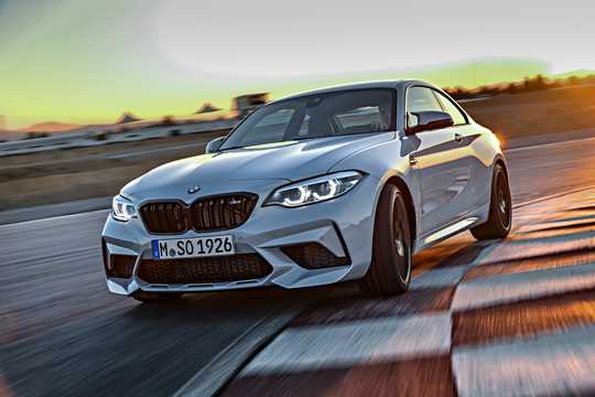 Front/Side  of BMW M2 Competition 3.0 DCT, 410hp, 2018