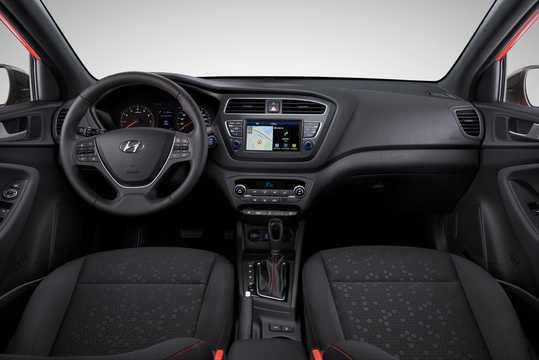 Interior of Hyundai i20 2018