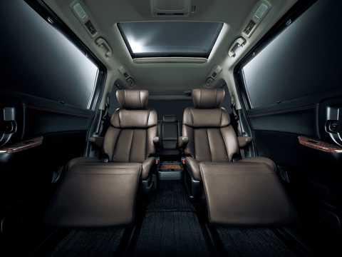 Interior of Nissan Elgrand 2011