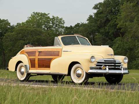 Front/Side  of Chevrolet Fleetmaster Cabriolet 3.5 Manual, 91hp, 1947