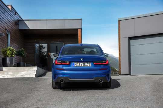 Back of BMW 3 Series Sedan 2019