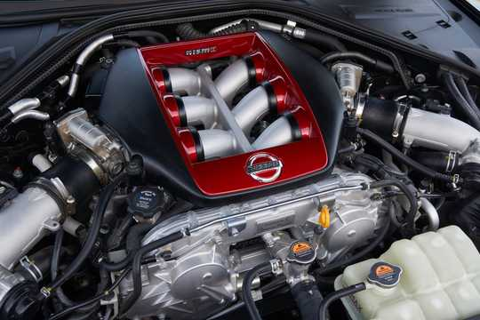 Engine compartment  of Nissan GT-R Nismo 3.8 V6 4x4 DCT, 608hp, 2018