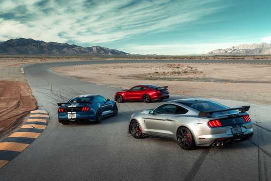 Back/Side of Ford Mustang Shelby GT500 5.2 V8 DCT, 700hp, 2020