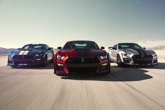 Front  of Ford Mustang Shelby GT500 5.2 V8 DCT, 700hp, 2020
