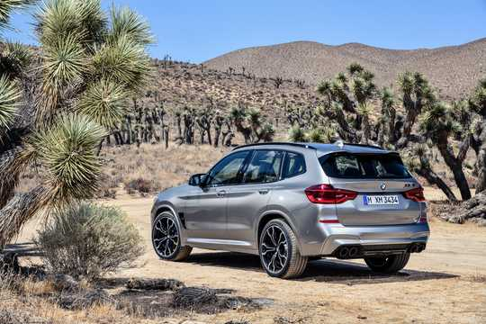 Back/Side of BMW X3 M Competition  Steptronic, 510hp, 2019