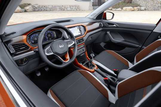 Interior of Volkswagen T-Cross 2019