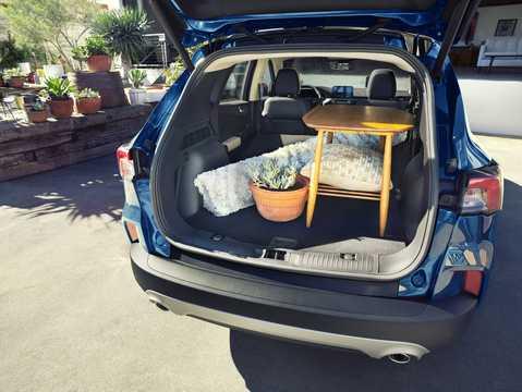 Interior of Ford Escape 2020