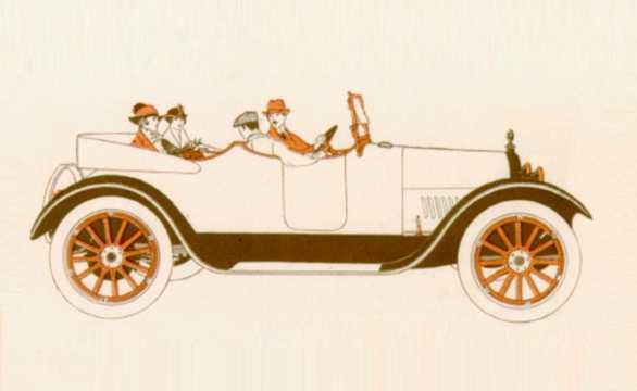 Side  of Chevrolet Model D-4 Roadster 4.7 V8 Manual, 51hp, 1918