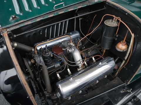 Engine compartment  of Chevrolet Model D-5 Touring 4.7 V8 Manual, 51hp, 1918