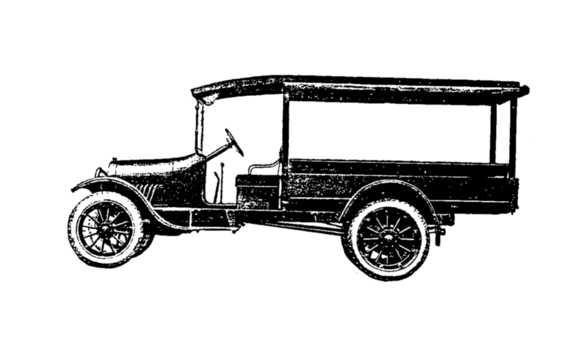 Front/Side  of Chevrolet Model G Express 3.7 Manual, 38hp, 1922